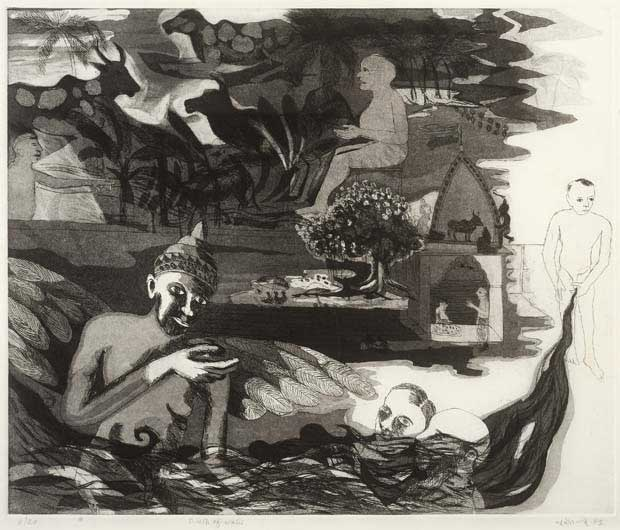 """Birth of Water,"" 1993, etching, 43 x 52 cm, 8/20"